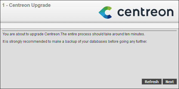 Centreon Upgrade 2.6.6 Start